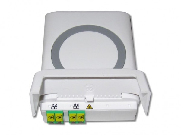 LWL FTTH Anschlussdose inkl. 2x LC-APC duplex Kupplung mit Shutter
