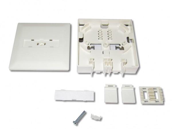 LWL FTTH Anschlussdose für 2x LC duplex oder SC simplex