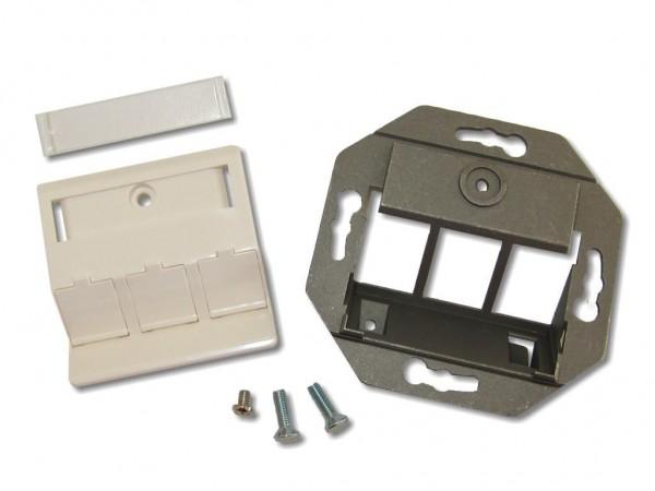 3-fach Dose für Keystone Module, RAL9010