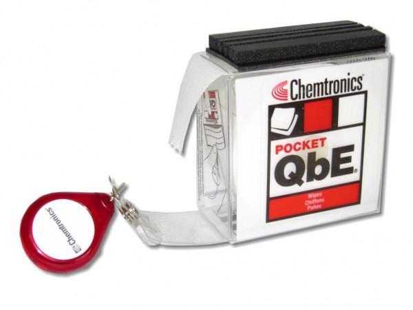p-QbE kompakte Reinigungsplattform für LWL Steckerreinigung im Taschenformat
