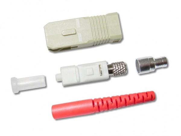 SC-Stecker multimode 3mm rot