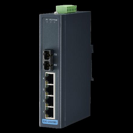 Advantech EKI-2525MI 4+1FX SC multimode unmanaged Ethernet Switch