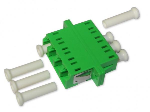 LC/APC quad (4-fach) LWL Kupplung singlemode