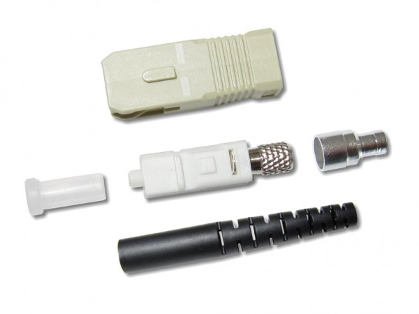 SC-Stecker multimode 3mm schwarz