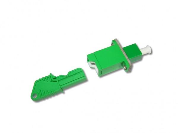 LSH/APC - LC (APC) simplex Kupplung