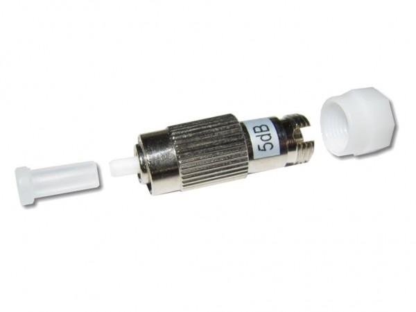 FC/PC singlemode LWL Dämpfungsglied (Attenuator) 5dB