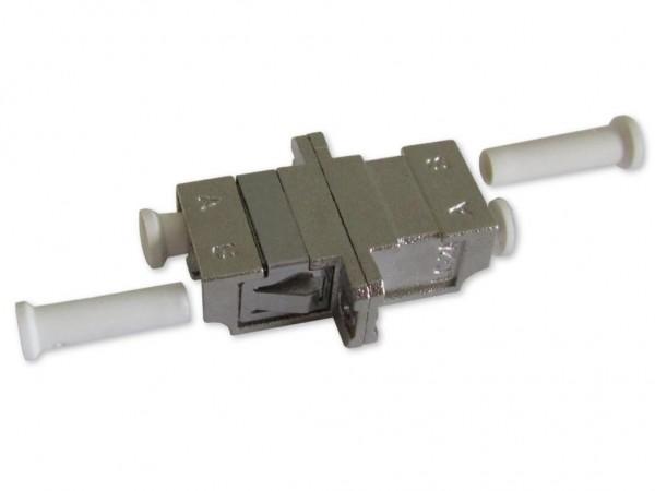 LC duplex Kupplung multimode/singlemode Metallgehäuse