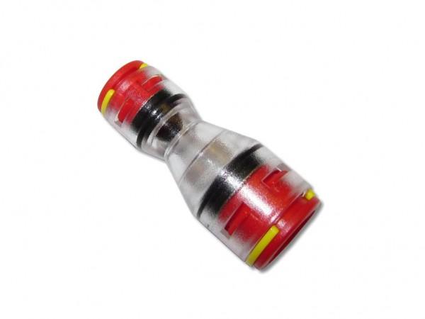 12mm auf 7mm Reduzierverbinder für Mikrorohre mit Clips